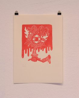 Lino Print Limited Edition of 44 Unique Versions
