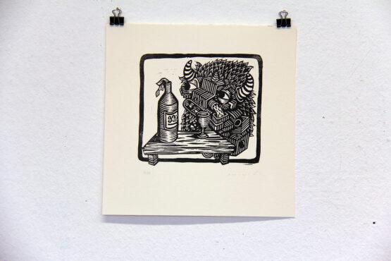 Linolschnitt druck Kunst